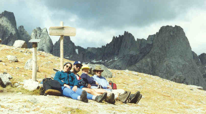 [Nancy, Reuben, Kathy, David in Wind River Range]